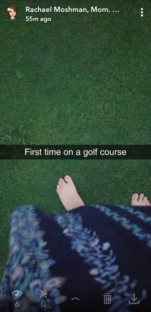 Golf course backyard
